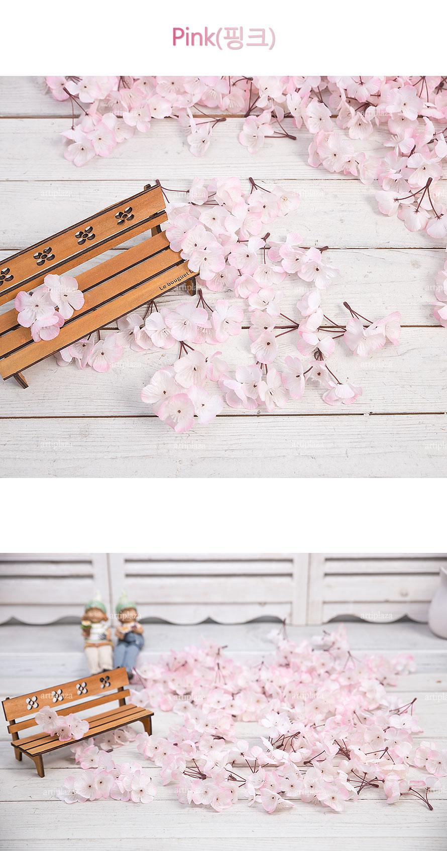 벚꽃송이(1봉지=100개) /조화벚꽃잎/인테리어조화꽃 - 아티플라자, 10,500원, 조화, 리스/가랜드