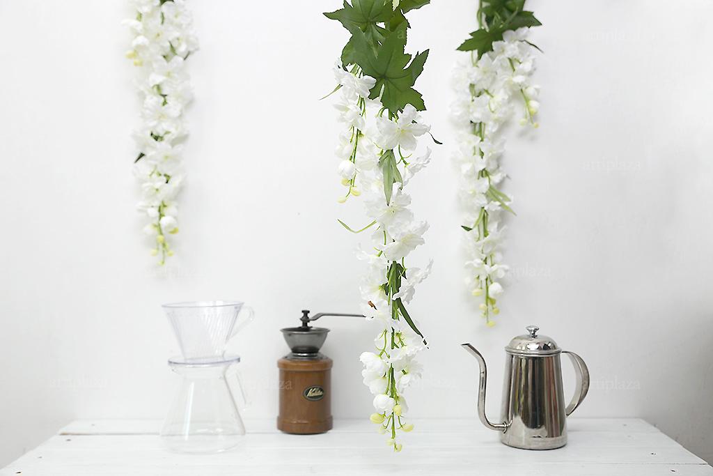 화이트 델피니움 꽃 가지 98cm 조화 - 아티플라자, 7,600원, 조화, 부쉬