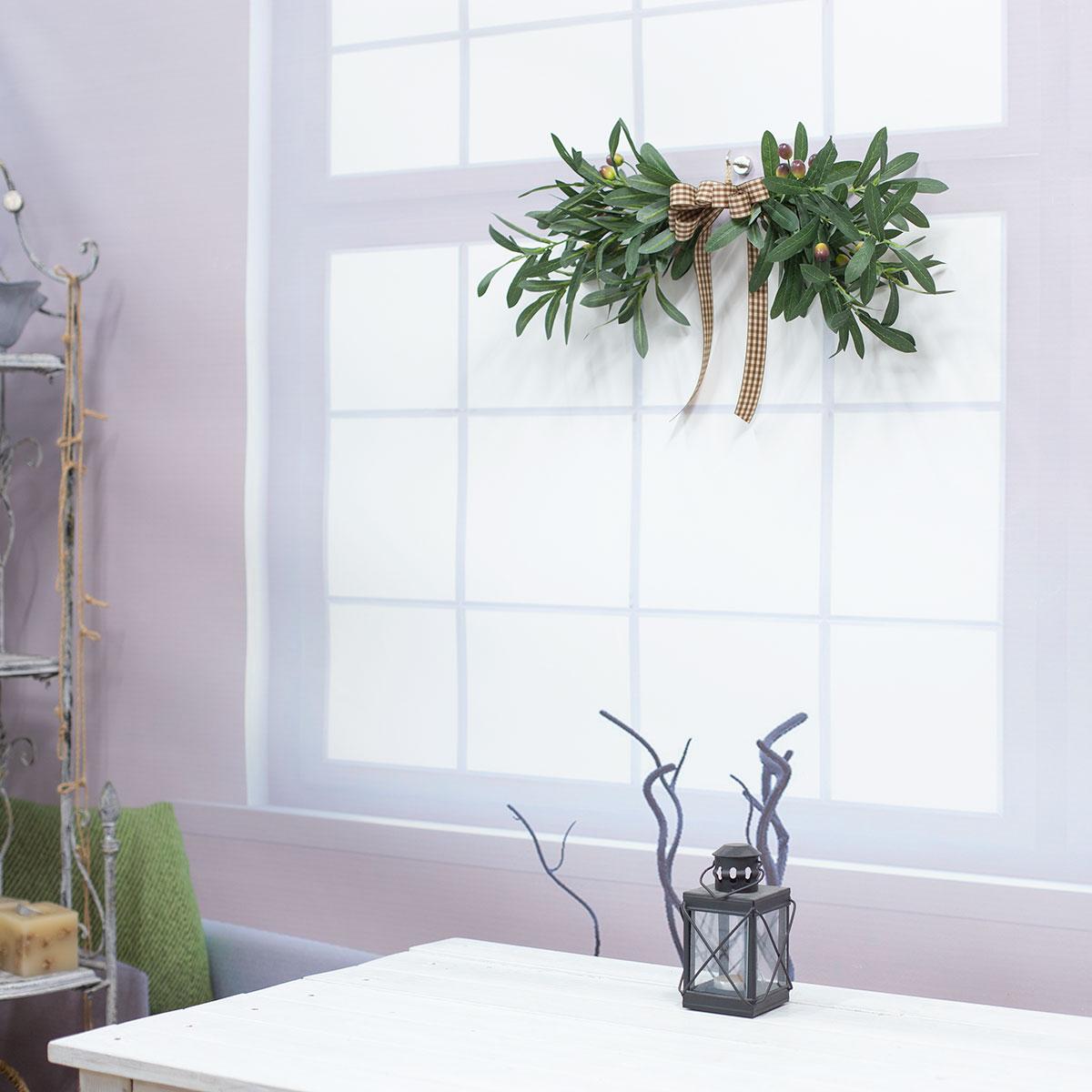 네추럴 올리브 스웨그 창문 벽장식 이미지