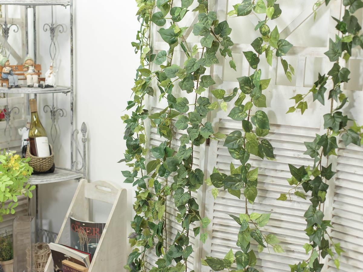 조화넝쿨 네추럴 잎사귀 갈란드 184cm