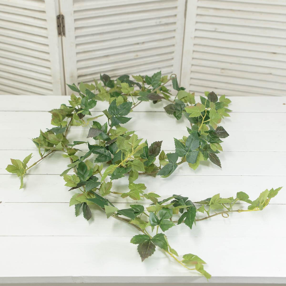 조화넝쿨 네추럴 잎사귀 갈란드 184cm 메이플아이비