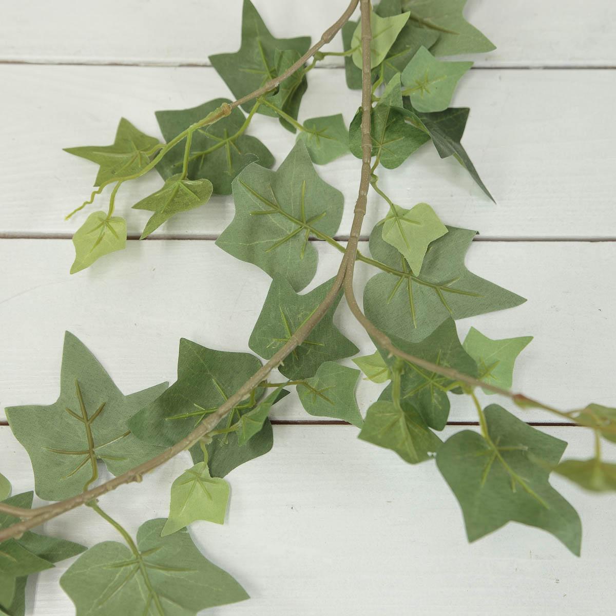 조화넝쿨 네추럴 잎사귀 갈란드 184cm 곁줄기디테일