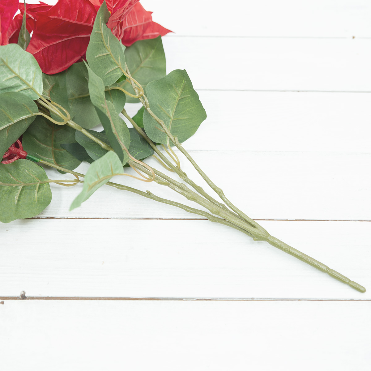 프라임 벨벳 포인세티아 꽃 부쉬 50cm 실크플라워 조화 - 아티플라자, 12,000원, 조화, 부쉬
