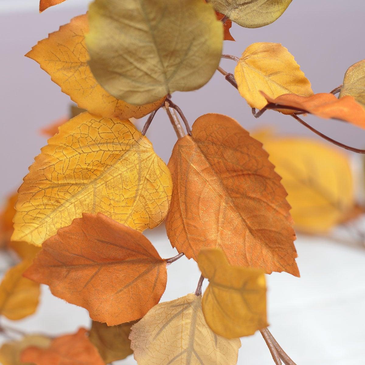 가을 아스펜 포플러 잎 넝쿨 200cm, 실크플라워 조화 가랜드 - 아티플라자, 23,000원, 조화, 부쉬