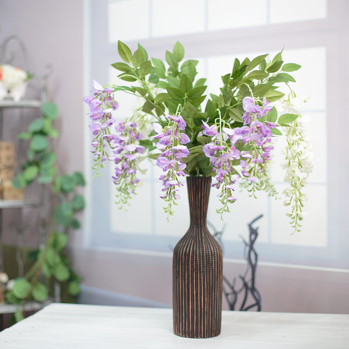 위스테리아 등나무 꽃 가지 화병 샘플 이미지1