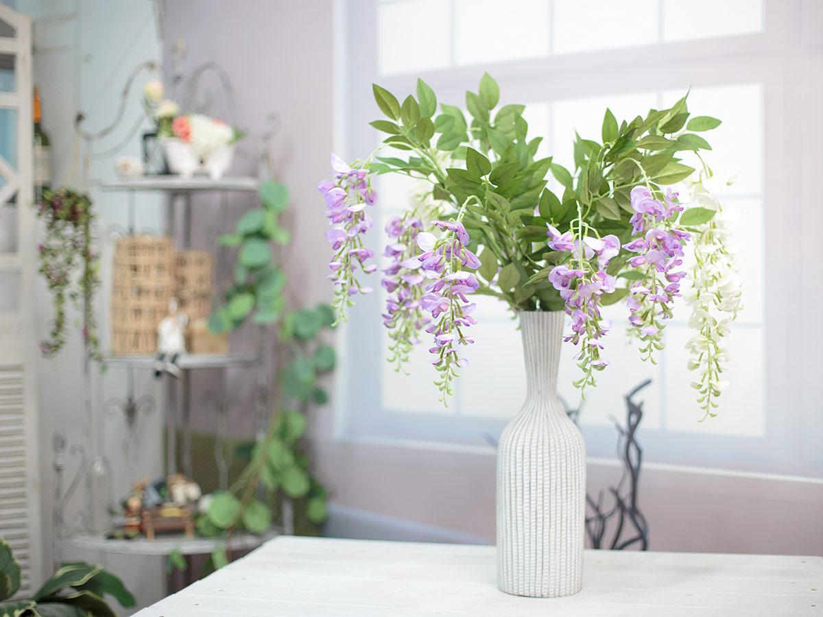 위스테리아 등나무 꽃 가지 화병 샘플 이미지2