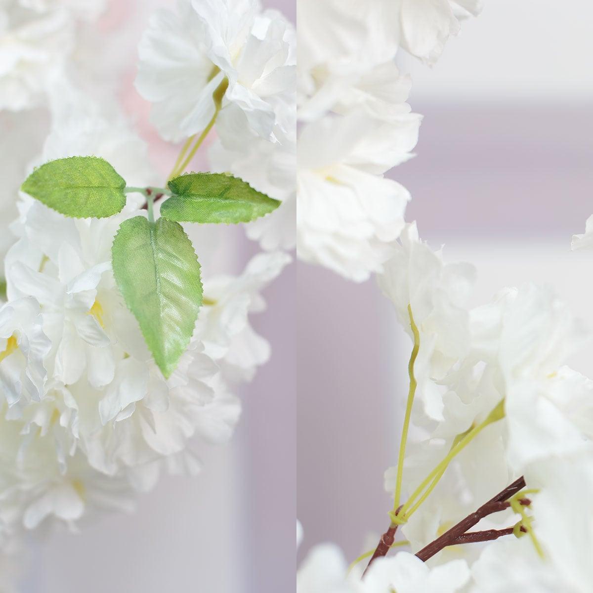 초록잎사귀 디테일과 꽃줄기 디테일사진