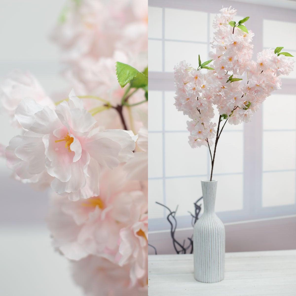 라이트핑크색 꽃송이 디테일, 한줄기 화병사진