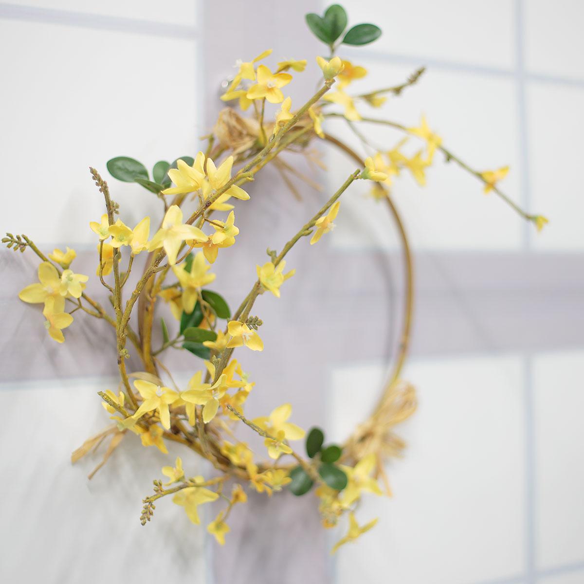 네추럴 봄 개나리 리스 기본사진