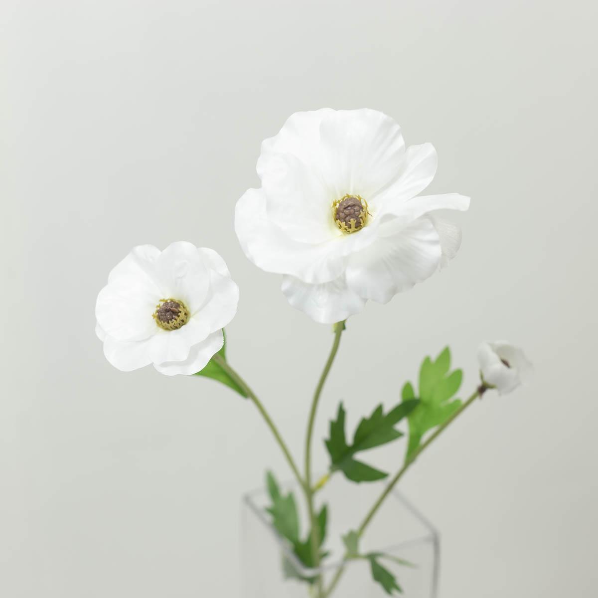 버터플라이 라넌큘러스 꽃 가지 60cm 크림