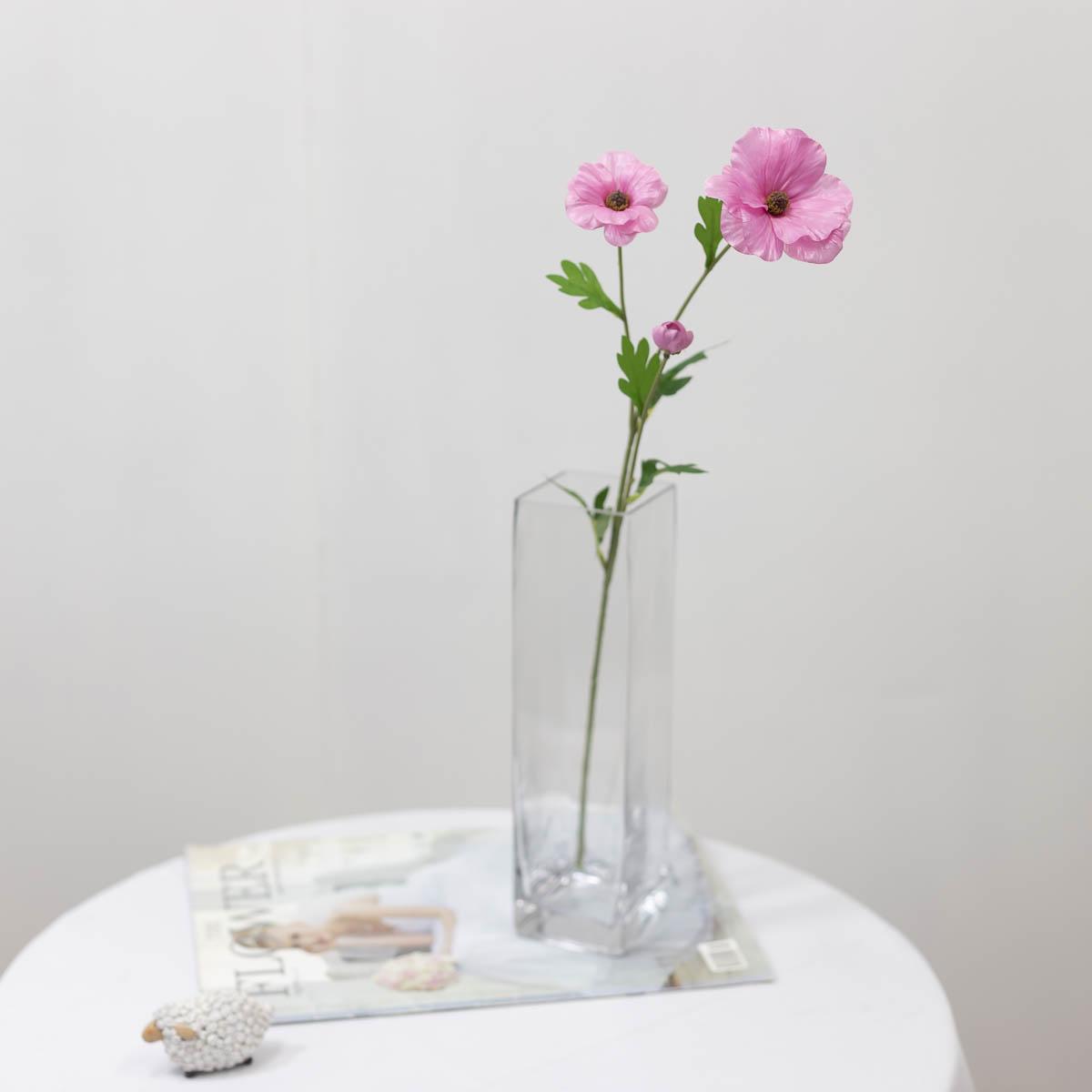 버터플라이 라넌큘러스 꽃 가지 60cm 모우브