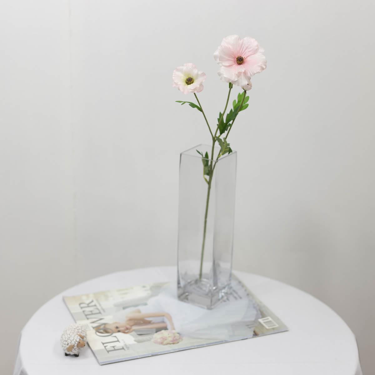 버터플라이 라넌큘러스 꽃 가지 60cm 핑크