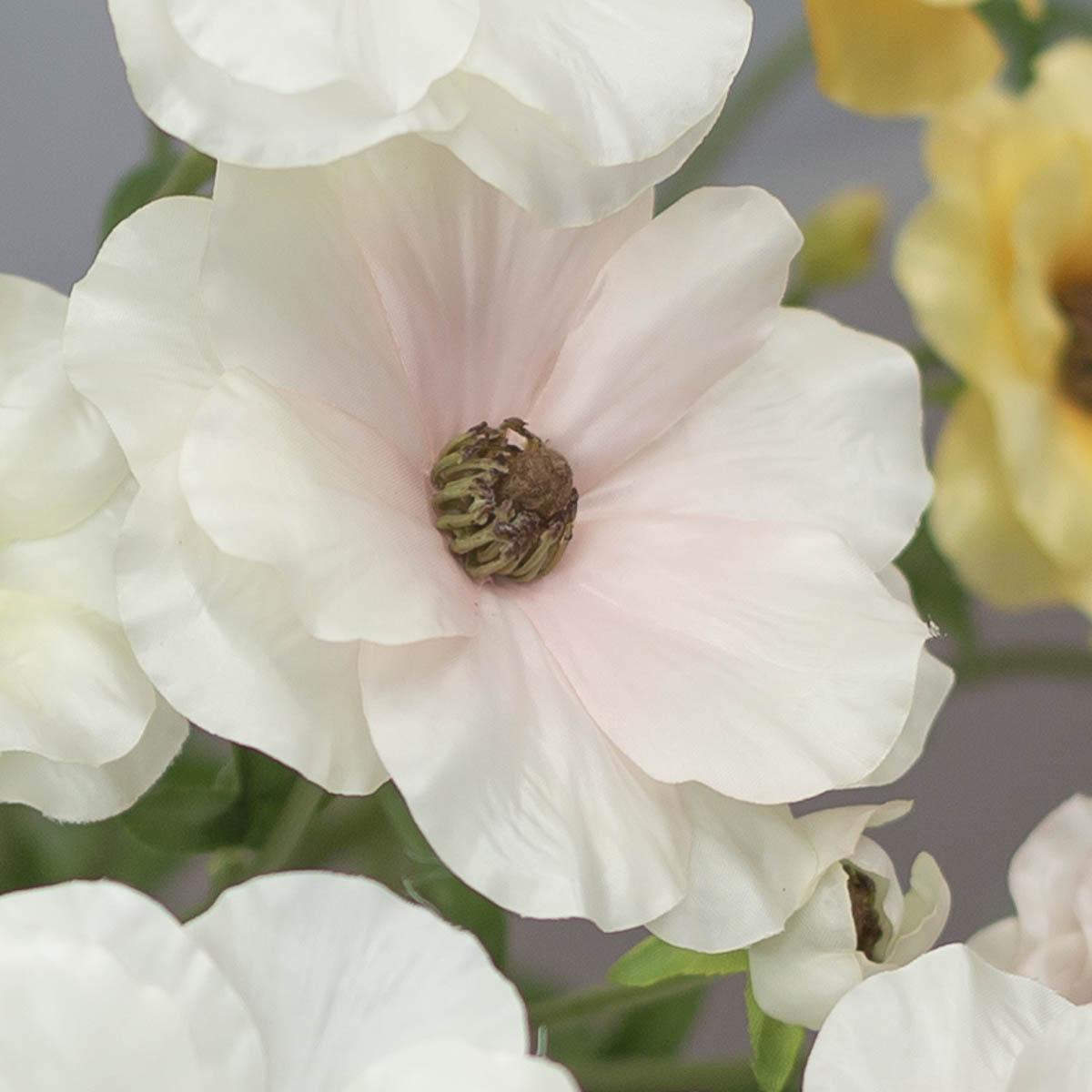 버터플라이 러넌큘러스 꽃 가지 56cm Cream/Pink(크림/핑크) 꽃송이 디테일