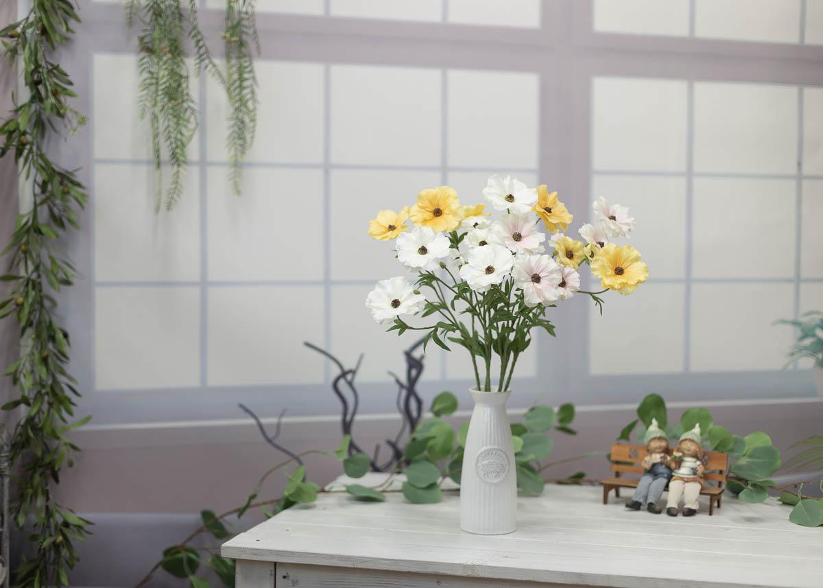 버터플라이 러넌큘러스 꽃 가지 56cm 연출샘플1