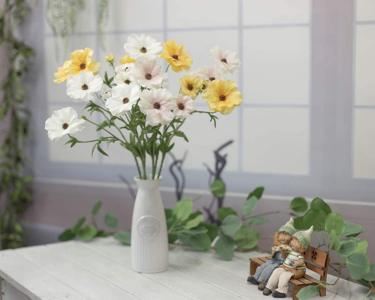 버터플라이 러넌큘러스 꽃 가지 56cm 연출샘플2
