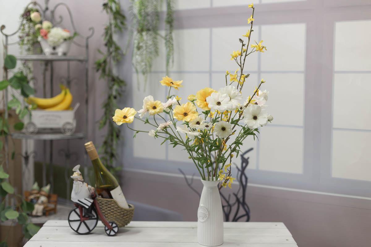 버터플라이 러넌큘러스 꽃 가지 56cm 연출샘플4