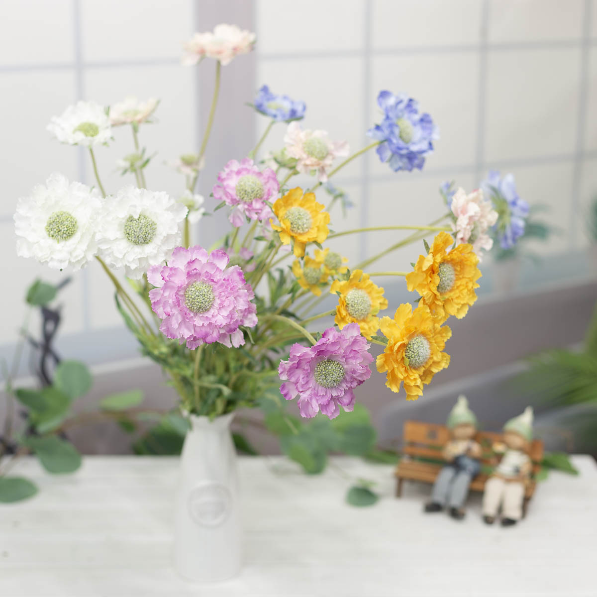세송이 스카비오사 꽃 가지 62cm