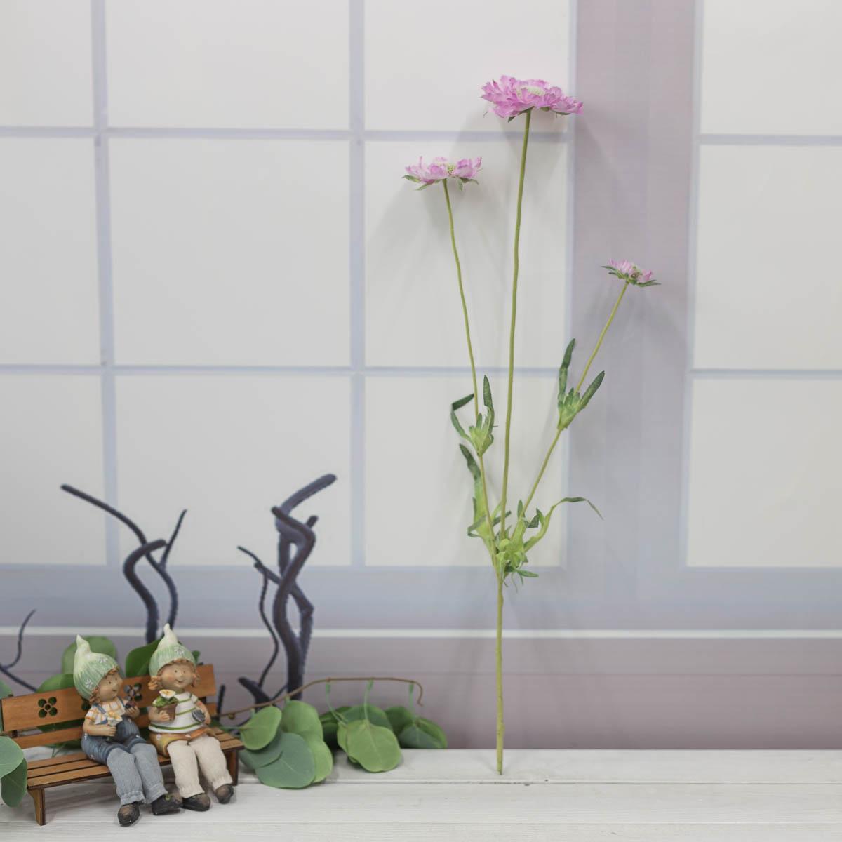 세송이 스카비오사 꽃 가지 62cm Lilac(라일락)