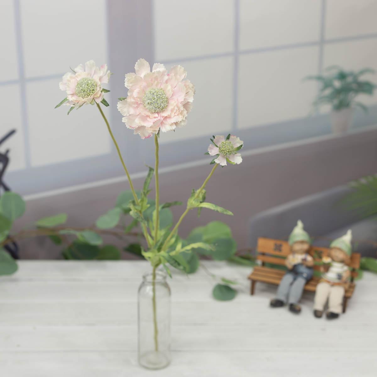 세송이 스카비오사 꽃 가지 62cm Pink(핑크)
