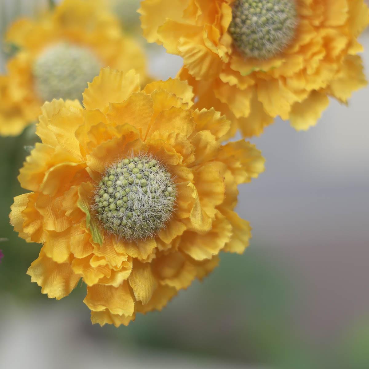 세송이 스카비오사 꽃 가지 62cmYellow(옐로우)