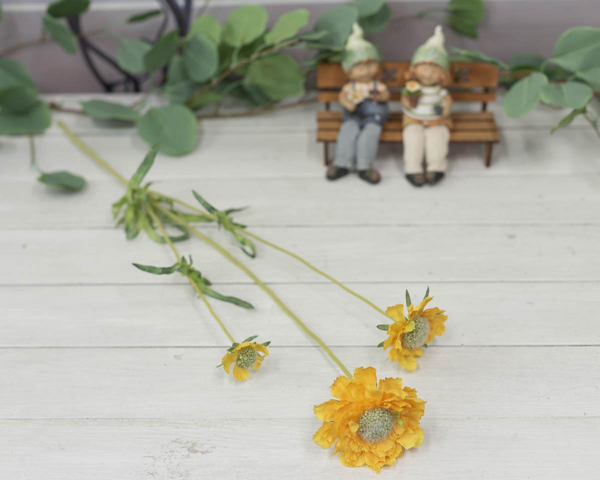 세송이 스카비오사 꽃 가지 62cm Yellow(옐로우)