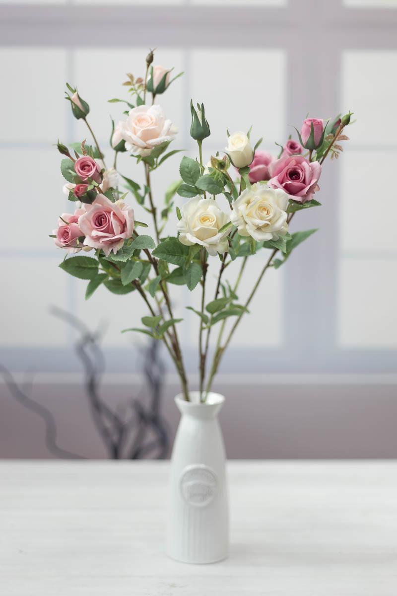 퀸 엘리자베스 장미 꽃 가지 67cm