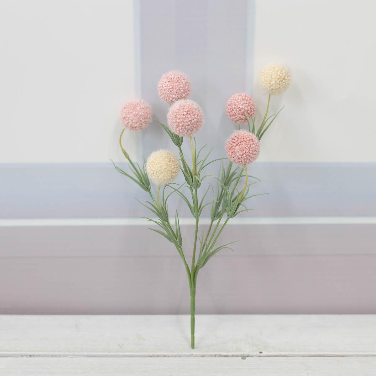 소프트 팜팜 알륨 미니 꽃 부쉬 베이지/핑크