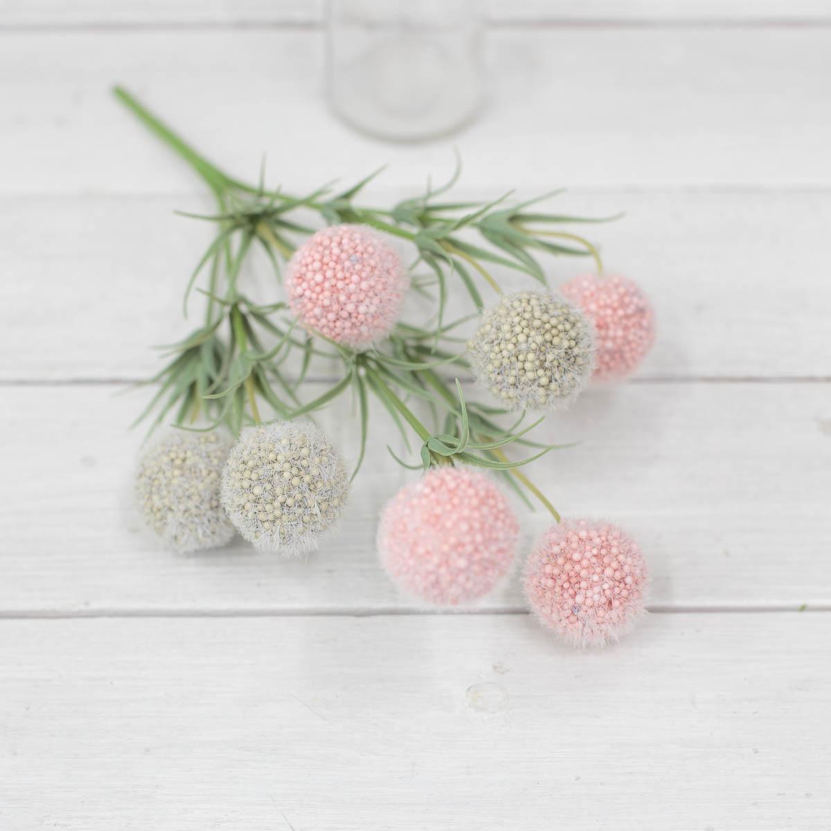 소프트 팜팜 알륨 미니 꽃 부쉬 핑크/그린