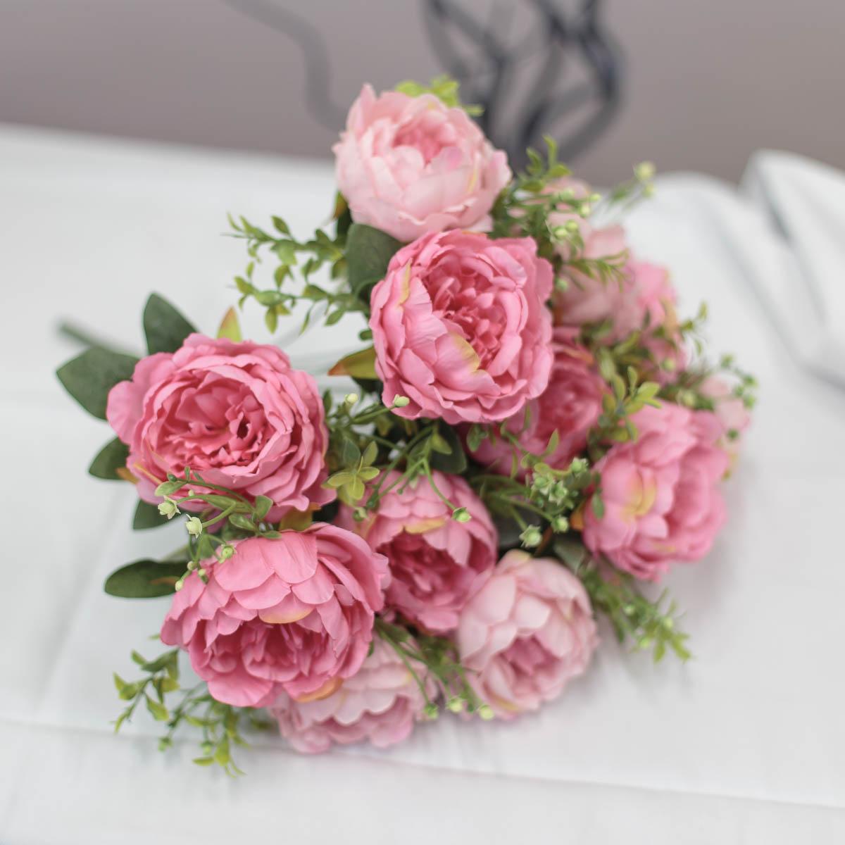 풍성한 작약 꽃 부쉬 믹스핑크