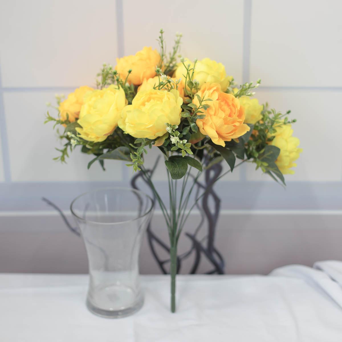 풍성한 작약 꽃 부쉬 믹스옐로우