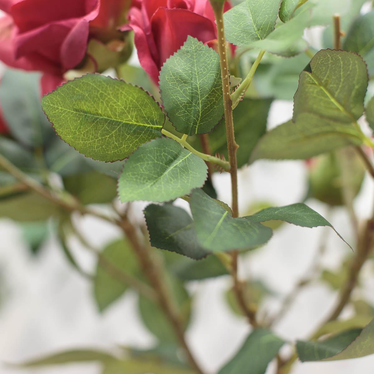 마르샤장미 조화나무 인조화분 레터링 원형 플라워포트 잎사귀 디테일