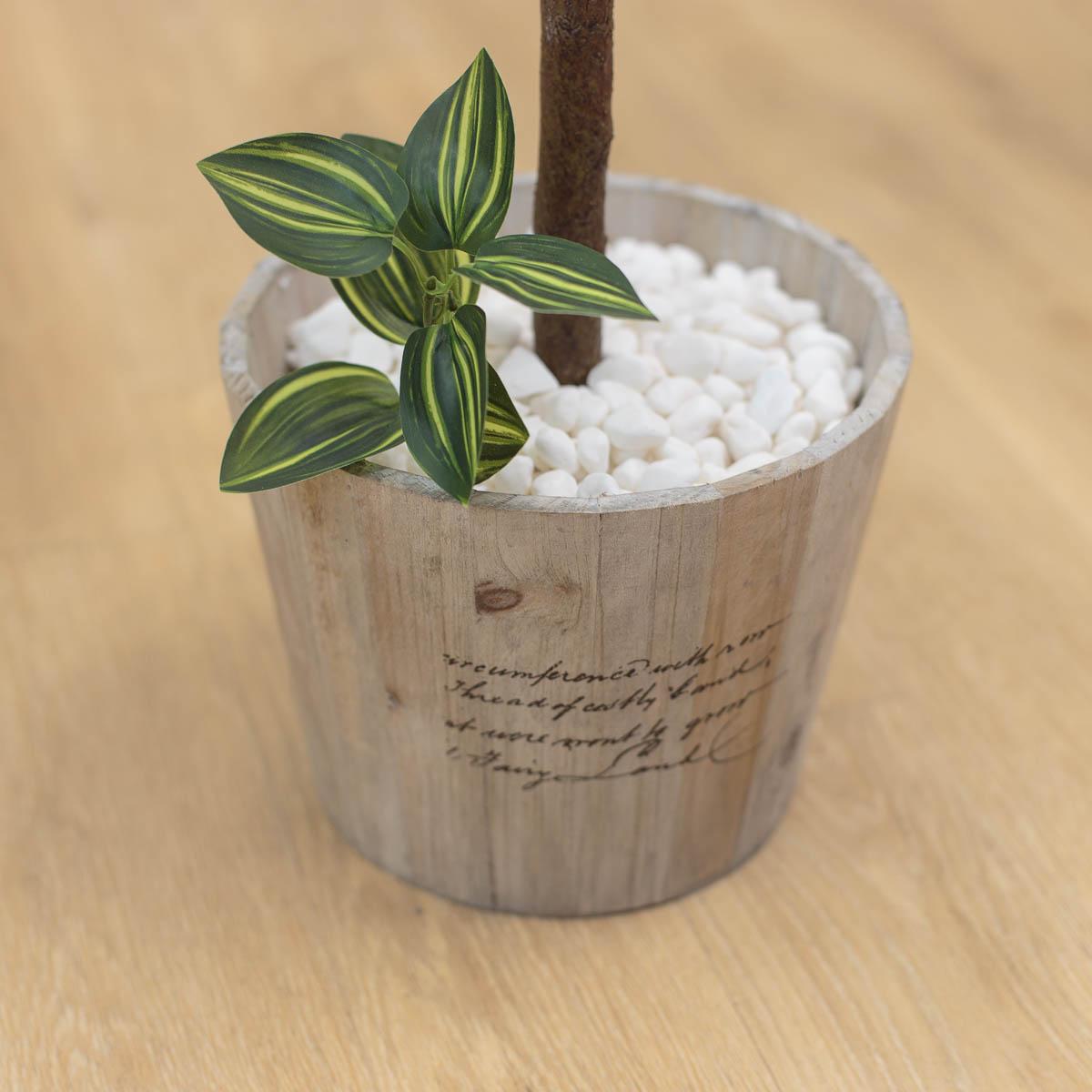 마르샤장미 조화나무 인조화분 레터링 원형 플라워포트 지피식물 디테일