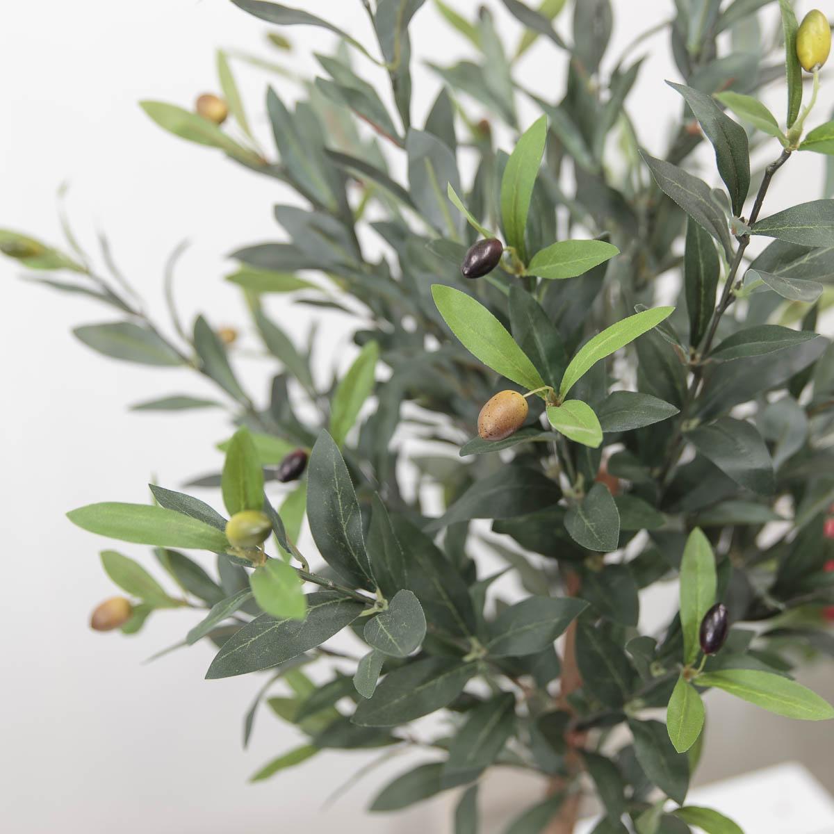 올리브조화 인테리어인조나무 85cm 식물조화 인조화분 올리브열매 디테일