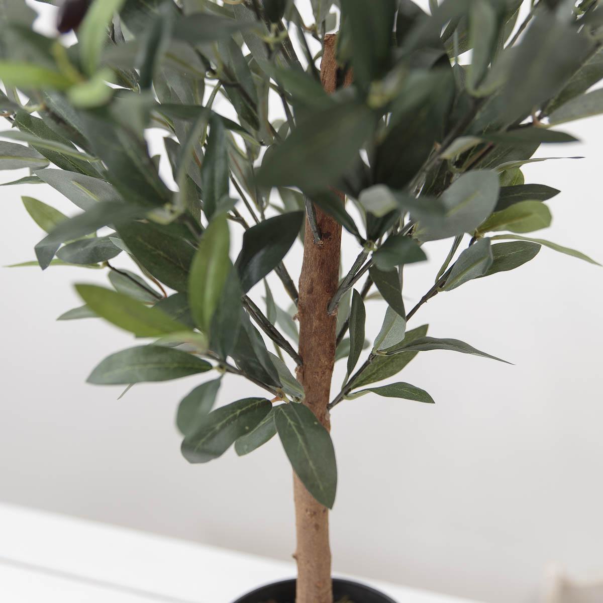 올리브조화 인테리어인조나무 85cm 식물조화 인조화분 줄기디테일