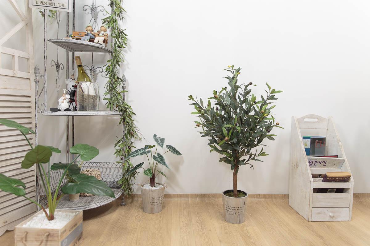 올리브조화 인테리어인조나무 85cm 식물조화 인조화분