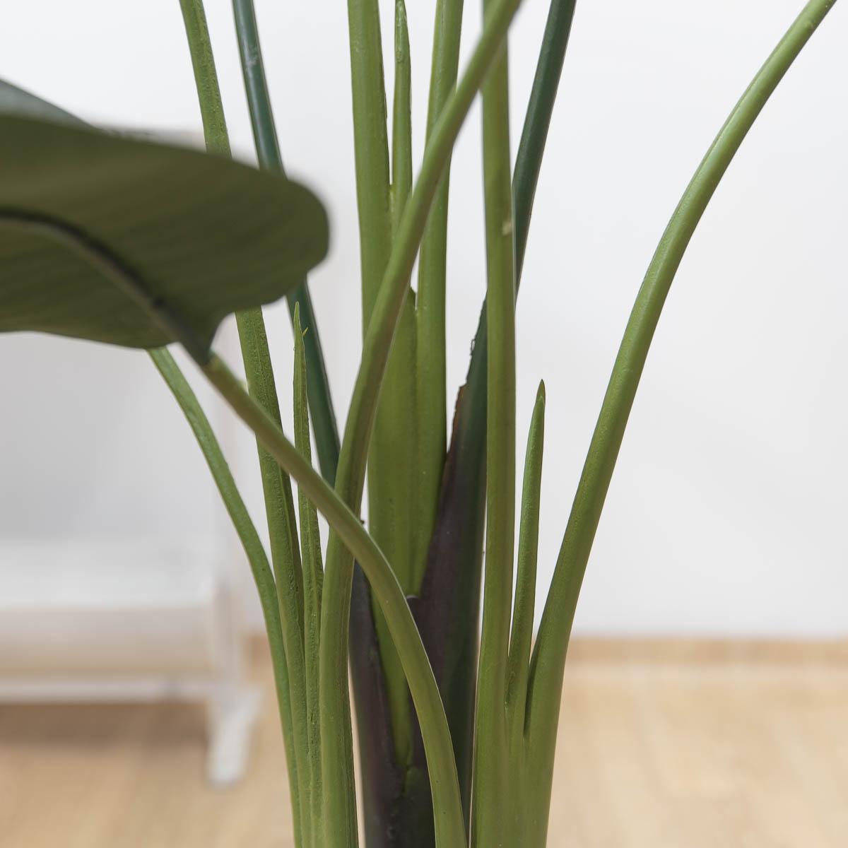 스텔리지아 극락조조화 인조나무 150cm Tuin사각화분 대 세트 줄기디테일