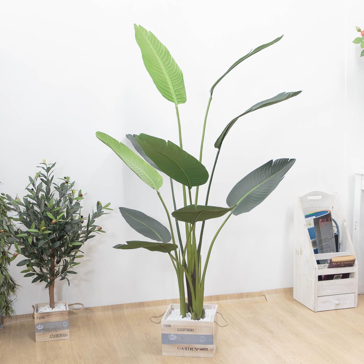 스텔리지아 극락조조화 인조나무 150cm Tuin사각화분 대 장식샘플