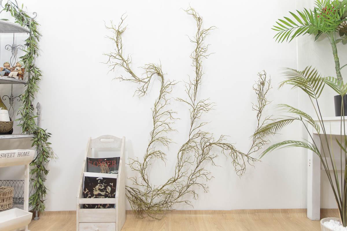 기근 트위그가지 행잉플랜트 조화넝쿨 갈란드 180cm 벽면연출샘플