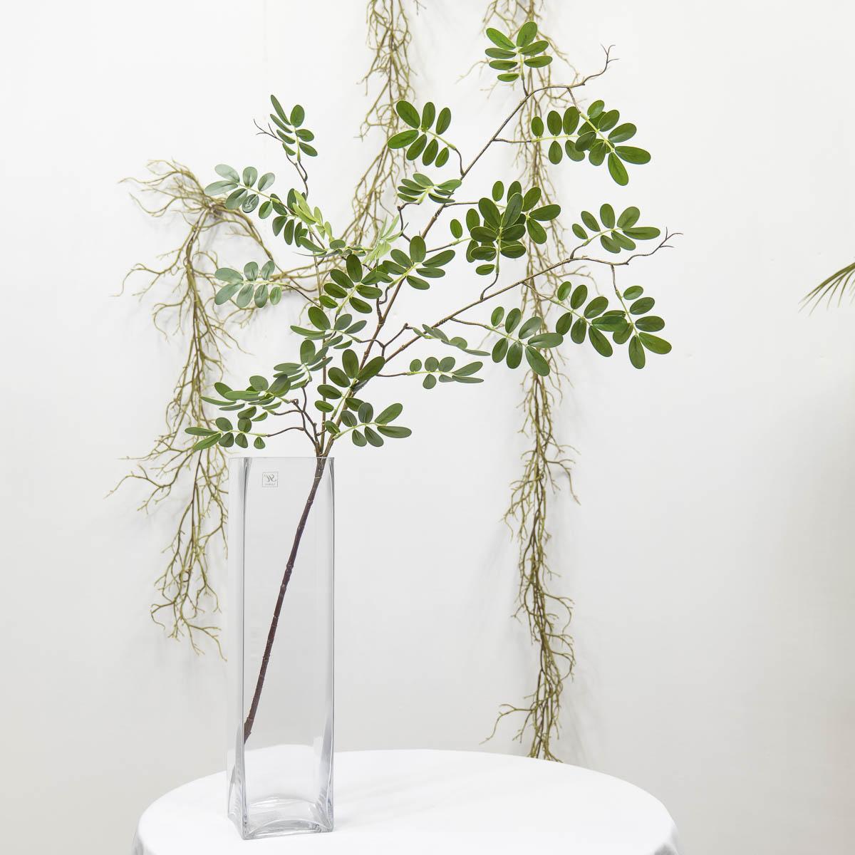 실크플라워 아카시아조화 잎사귀 나무가지 95cm