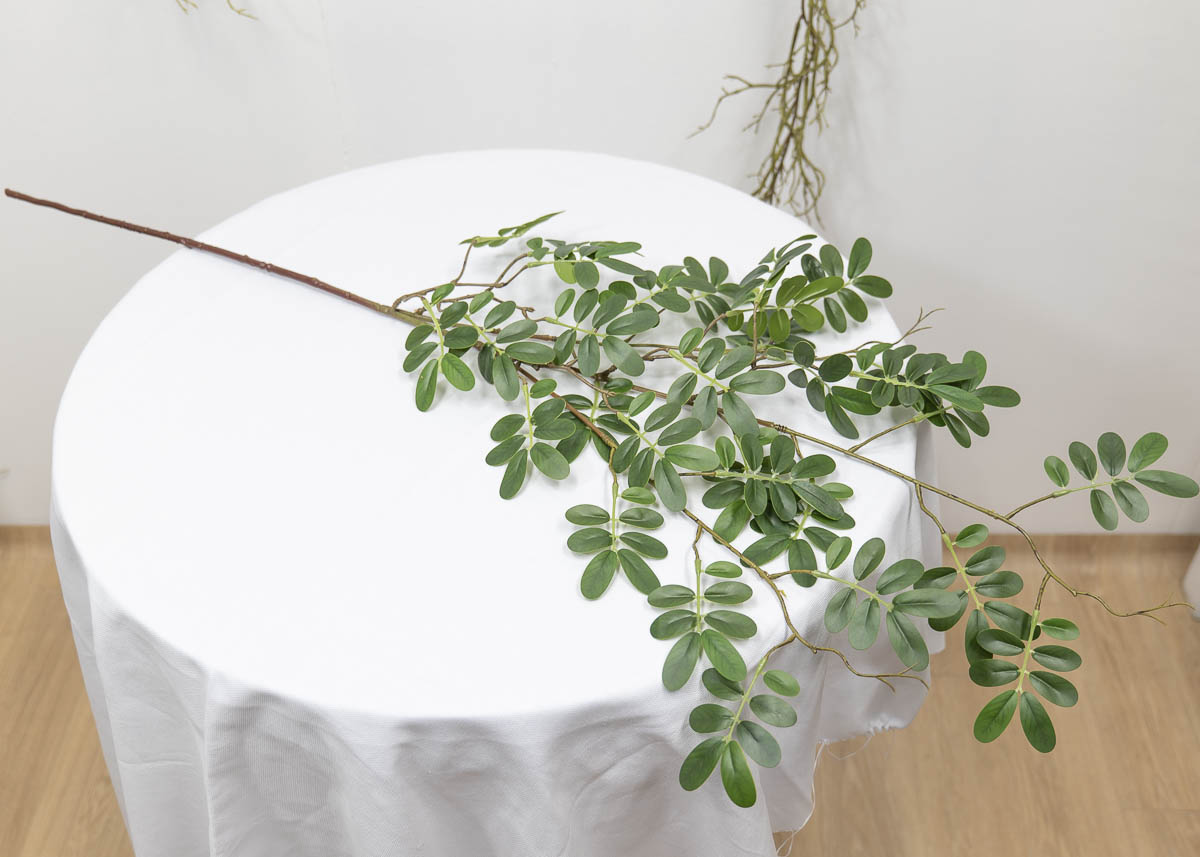 실크플라워 아카시아조화 잎사귀 나무가지 95cm 앞면