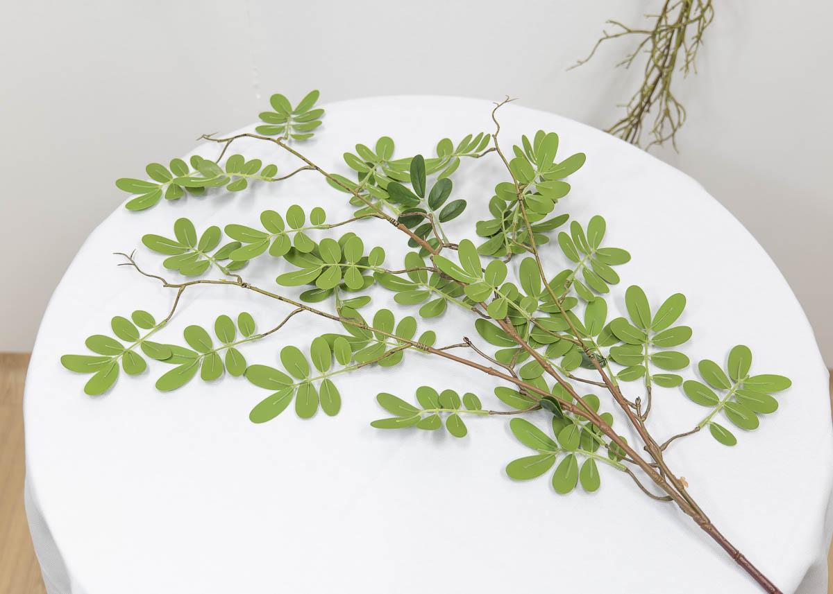 실크플라워 아카시아조화 잎사귀 나무가지 95cm 뒷면