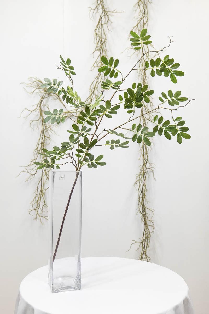 실크플라워 아카시아조화 잎사귀 나무가지 95cm 한줄기