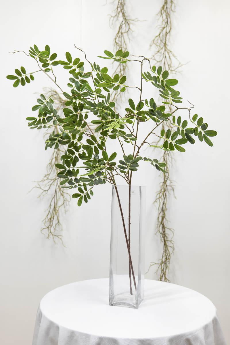 실크플라워 아카시아조화 잎사귀 나무가지 95cm 블루/그린