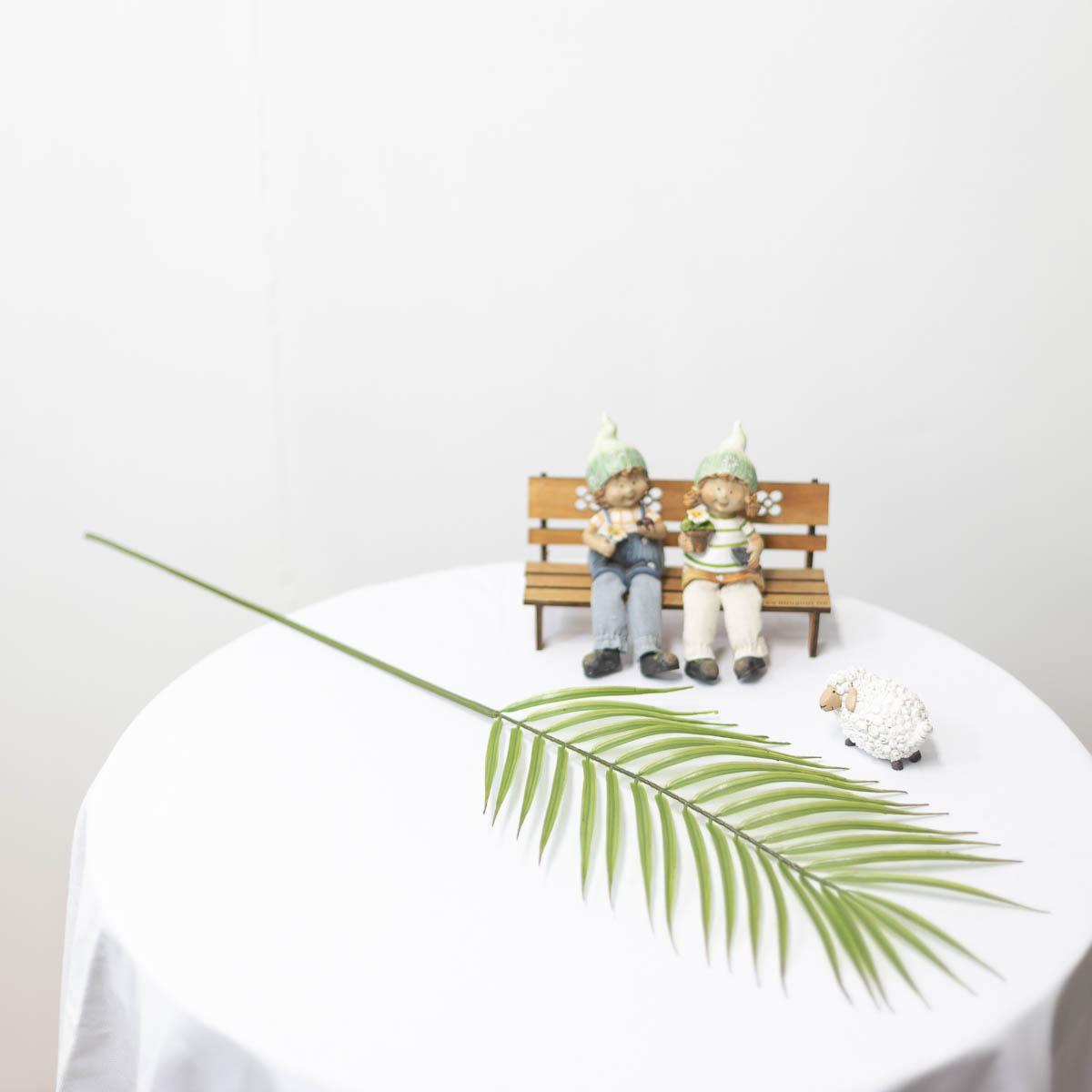 아레카야자조화 잎사귀 나무가지 79cm 잎사귀 윗쪽