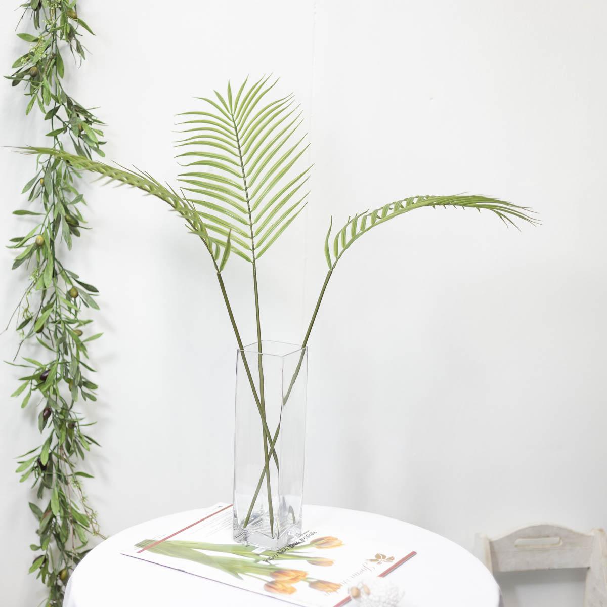 아레카야자조화 잎사귀 나무가지 79cm 세줄기 연출 사진