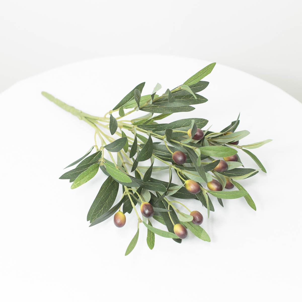 올리브조화 잎사귀 열매조화 부쉬